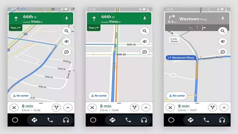 نمایش جراغ های راهنمایی در گوگل مپس